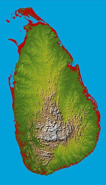 Topography_Sri_Lankaセイロン島...